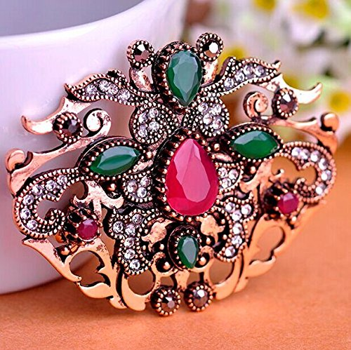 ish Vintage Broches Bijuterias Metal Resin Broaches Hijab Accessories Broch-in Brooches (Turkish Bouquet)