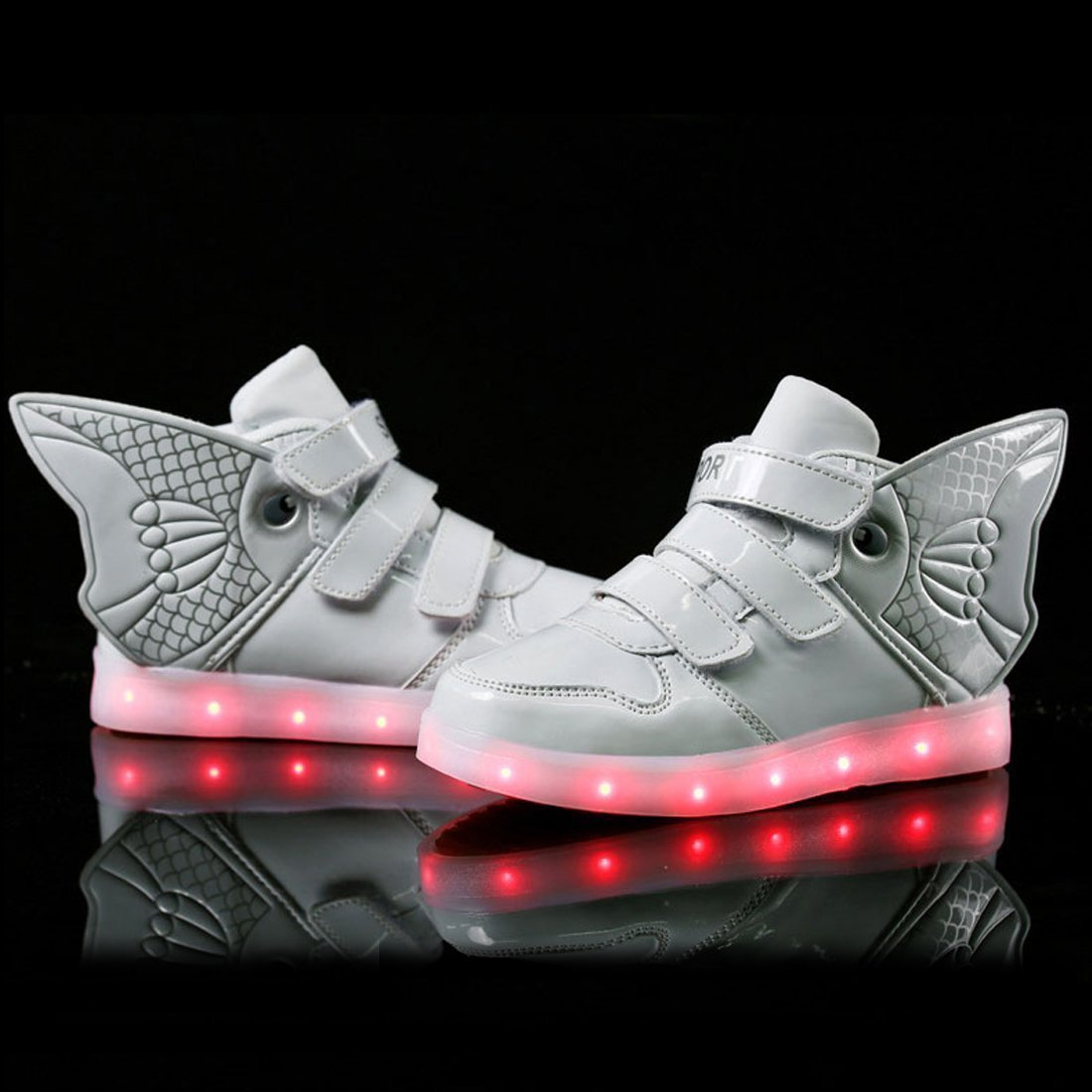 Goldfish Light Shoes Children with Wings Light Shoes fire Children Shoes USB Charging Light Shoes