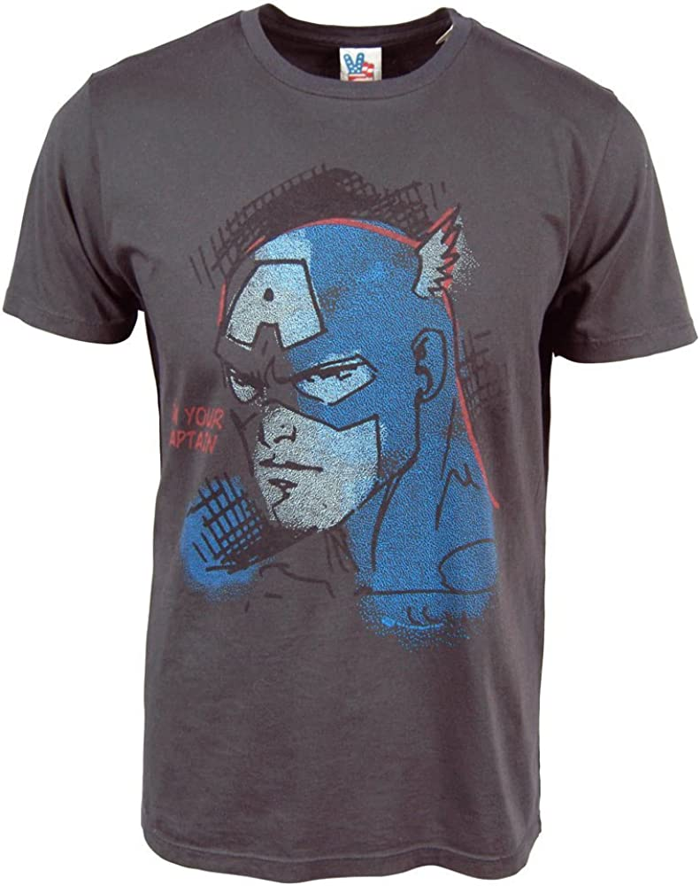 Junk Food Captain America I'm Your Captain Adult T-Shirt