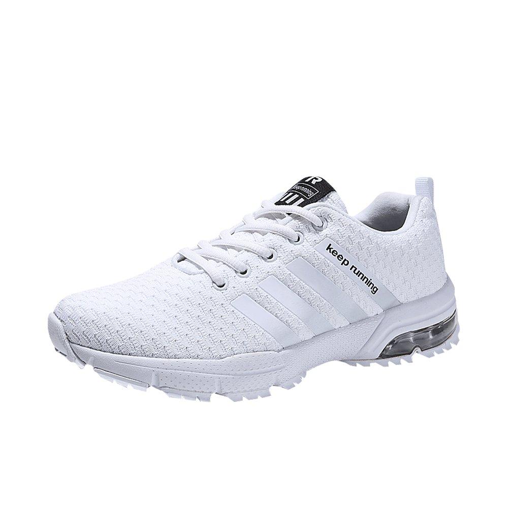 MUOU Sneaker Herren Laufschuhe Breathable Herren Turnschuhe Sport Outdoor Schuhe Mode Schuhe  44 EU|Wei?