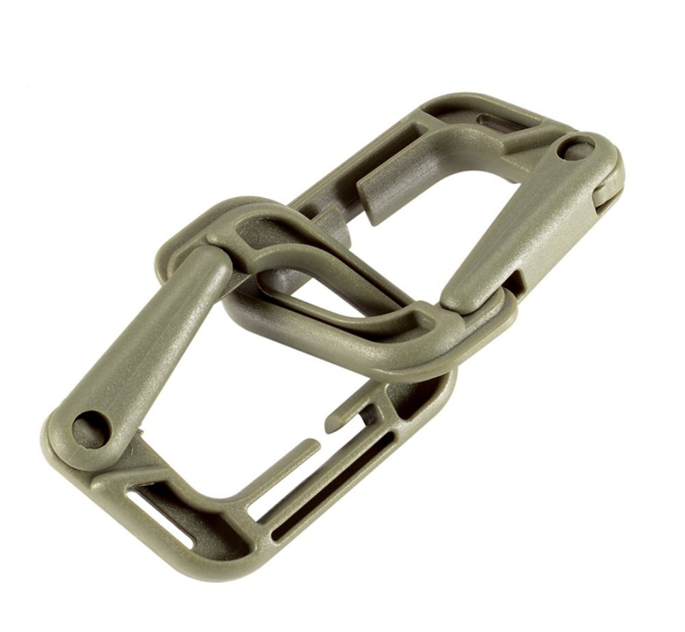 Tactical Multi-Prop/ósito D-Ring Locking Hanging Paquete de 10 Tactical Bag Accesorios por ZENDY Gancho t/áctico Enlace Snap Llavero para Molle Webbing