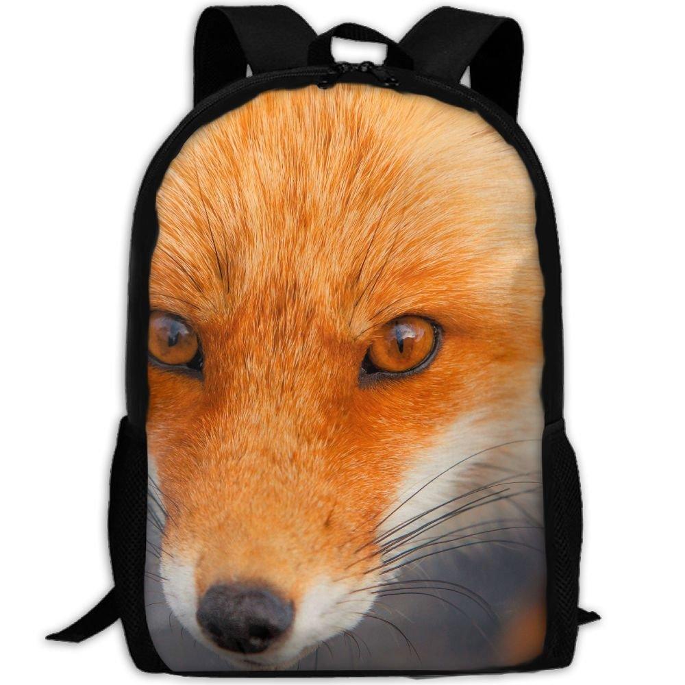 Fox Double Shoulder Backpacks For Adults Traveling Bags Full Print Fashion