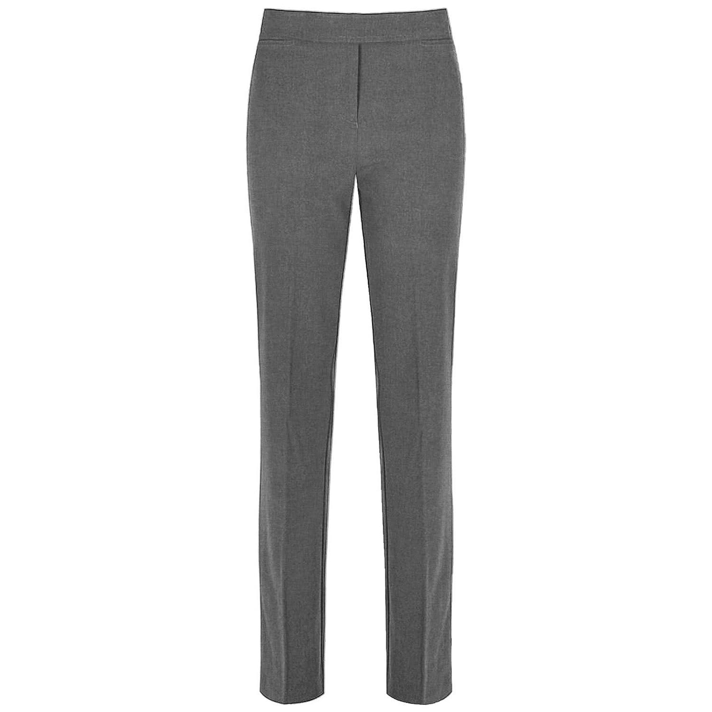 b048062312592e Girls Trousers Slim FIT Leg Kids School Uniform Pants Half Elasticated  Waist Pull UP Bottoms 3-16 Years: Amazon.co.uk: Clothing