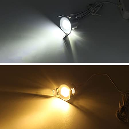 Amazon.com: lediary, 12 V LED bajo clóset luces Silvery ...