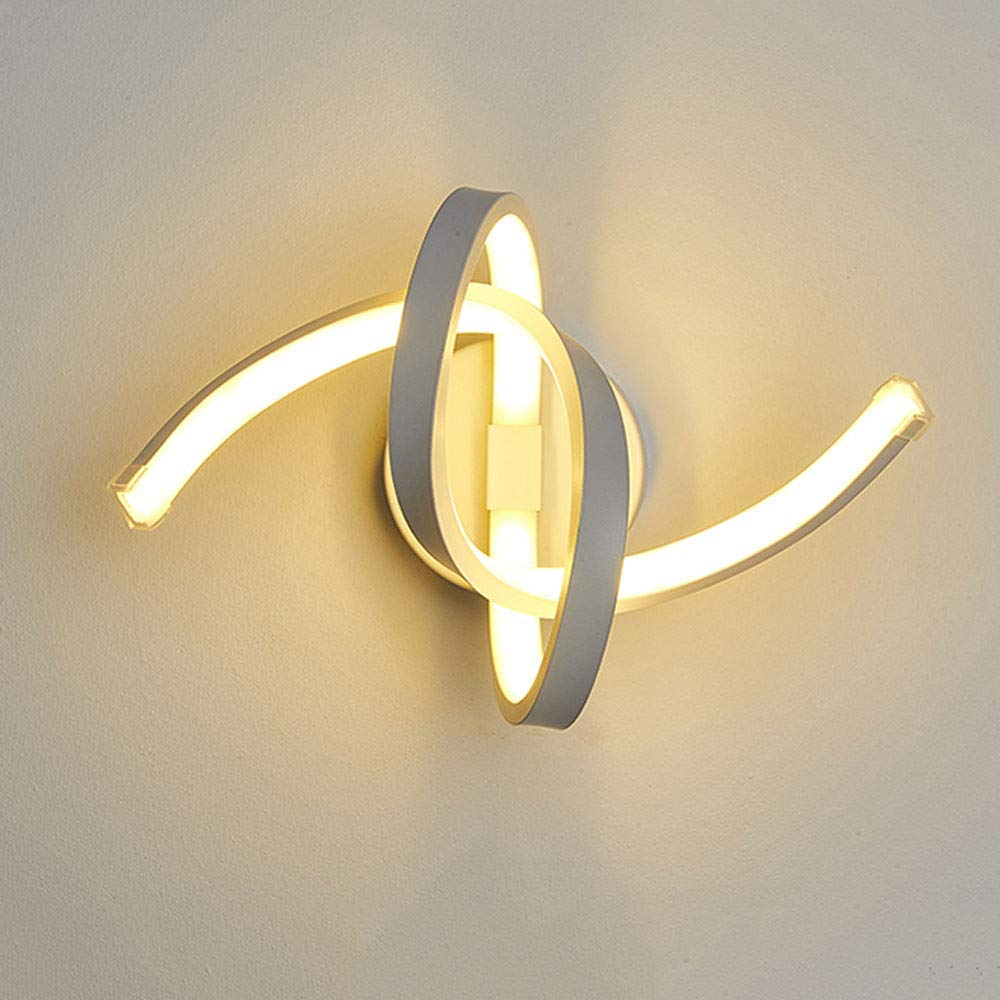 Wandleuchte Kreative Einfache 18W Wandleuchte LED-Spirale Wandleuchte Einfache Moderne Wohnzimmer Schlafzimmer Nachttischlampe Wandleuchte Weiß Acryl Aluminium Wandleuchte Lampe Gang Lampe Korridor Li