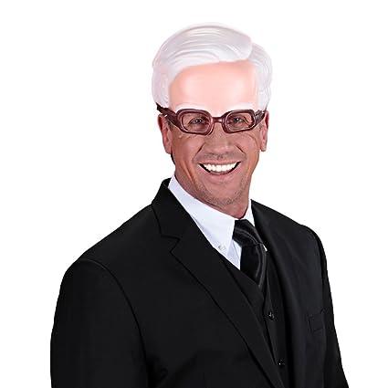 Media máscara de viejo con gafas medio antifaz abuelo profesor lentes carnaval