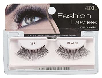 6530d234955 Amazon.com : Ardell Fashion Lashes-117 Black, (Pack of 9) : Beauty