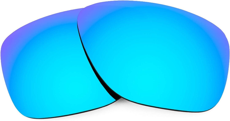 Revant Verres de Rechange pour Oakley Breadbox - Compatibles avec les Lunettes de Soleil Oakley Breadbox Bleu Glacier Mirrorshield - Polarisés Elite
