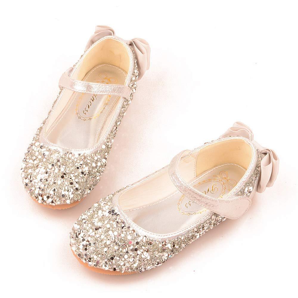 Girls Bow Sandals Dress Flats Cute Princess Mary Jane