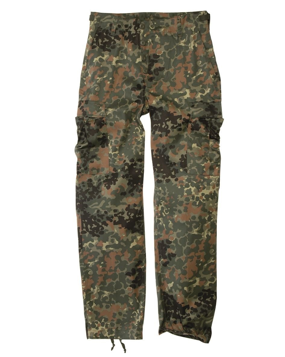 Mil-Tec Men's Us Army Ranger Trousers Work Combat Military Casual Pants X-Large Flecktarn