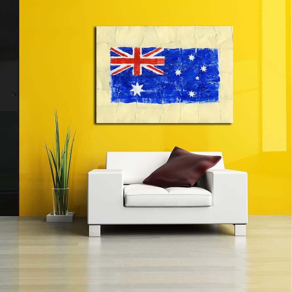 Pitaara Box Flag of Australia Canvas Unframed Canvas Australia Painting 45.2 x 32inch 511ffc