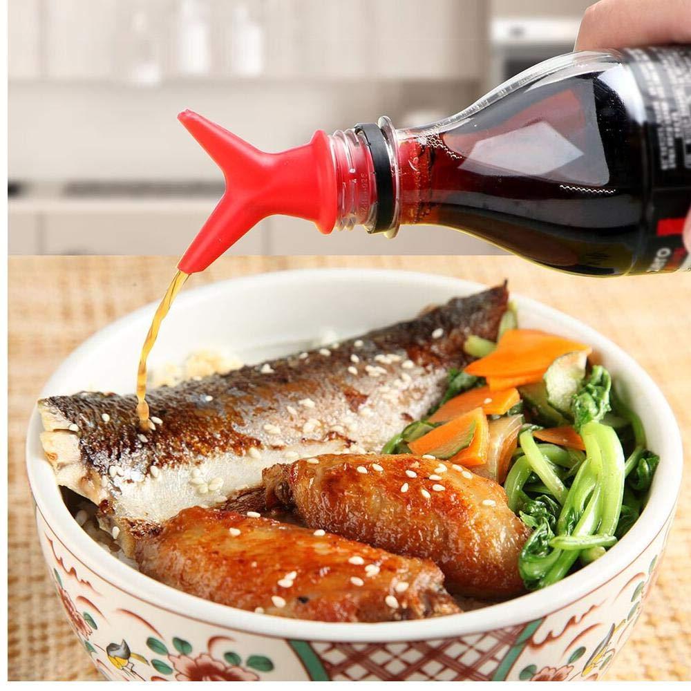Botella de Vino de Silicona Pitorro tap/ón de Vino Vino Vertedor Stoper Alcohol del Licor del vertedor aireador de Vino vertedor