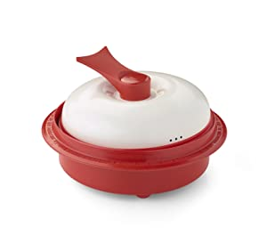 """Range Mate Pro Nonstick Microwave 5-in-1 Grill Pot/Pan Cookware Set """"As Seen On TV"""" (Grill, Bake, Roast, Saute, Steam, Poach, & One Pot Meals) (Red)"""