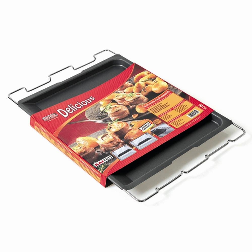 Kaiser Bakeware Delicious Series One of a Kind Oven Baking Tray with Expandable Handles and Legs to Be Used for Serving or Cooling 23.0064.7654