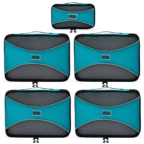PRO Packing Cubes | 5 Piece | Organizers & Space Saver | Travel Cube Value - Miu Review Miu