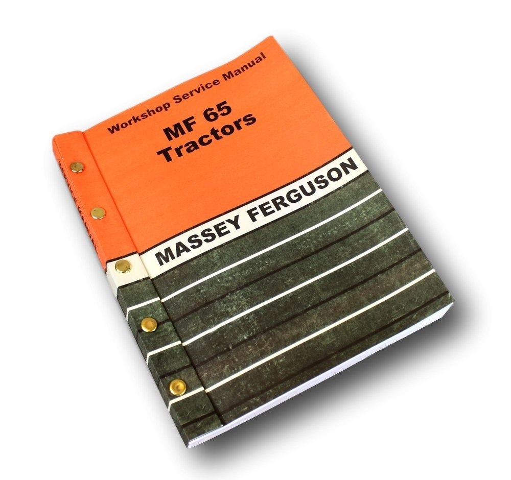 Amazon.com: Massey Ferguson Mf 65 Tractor Service Manual Technical Repair  Shop Workshop: Industrial & Scientific