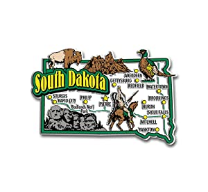 South Dakota State Jumbo Map Magnet