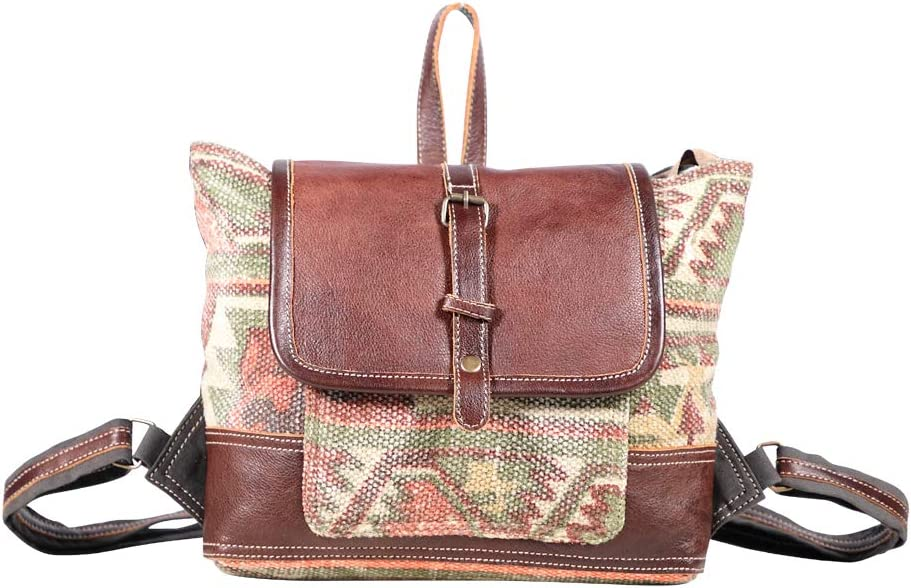 Amazon Com Myra Bags On The Go Canvas Leather Rug Backpack S 1896 We're very pleased to announce the myra bag collection has arrived at linda's stuff, first in canada to be offering this collection. myra bags on the go canvas leather