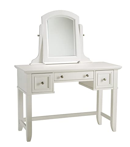 Captivating Home Styles 5530 70 Naples Vanity Table, White Finish