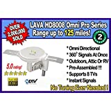 [Upgraded 2018] LAVA HD8008 Omni-Directional Amplified Outdoor HDTV Antenna with 360 Signal