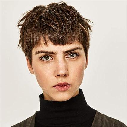 Peluca de pelo corto ANMPO para mujer, cabello liso, peluca de ...