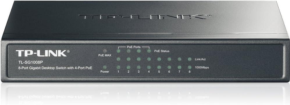 Image ofkenable TL SG1008P gigabit 8 Puerto Autoedición Interruptor con 4 Puerto PoE Built En