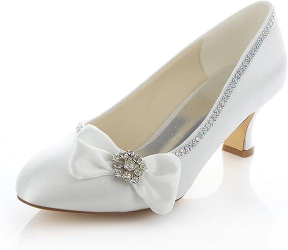 Scarpe Avorio Per Sposa.Emily Bridal Scarpe Da Sposa In Avorio Da Sposa Con Strass