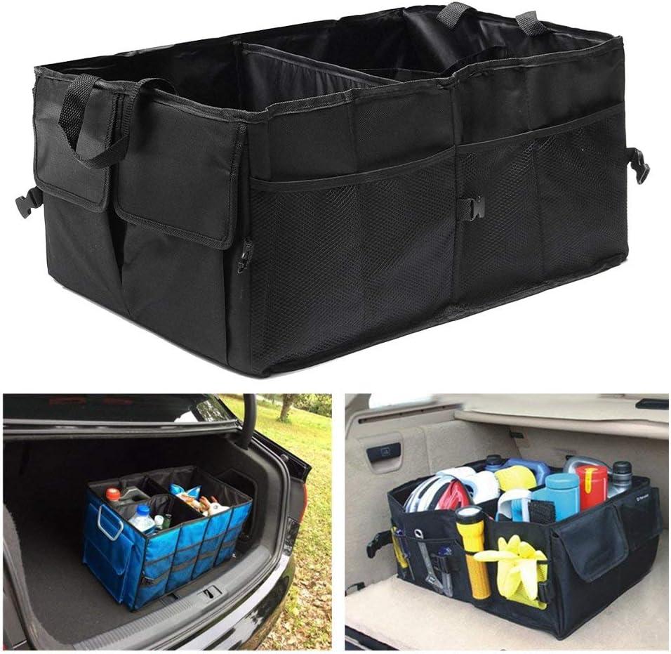 Robasiom Organizador de maletero de coche plegable organizador de maletero ajustable para asiento trasero del coche SUV coche SUV cami/ón auto veh/ículo hogar