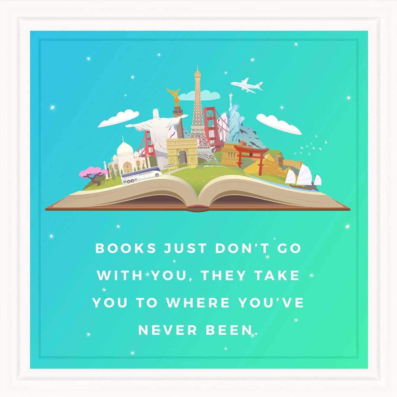 Gifts for Book Lovers   Gift Ideas For Readers   Reading Nook Decor  Bookish Items   Gifts For Writers  Bookshelf Decorations   Librarian Gifts  Book Club Gifts   Library Wall Art