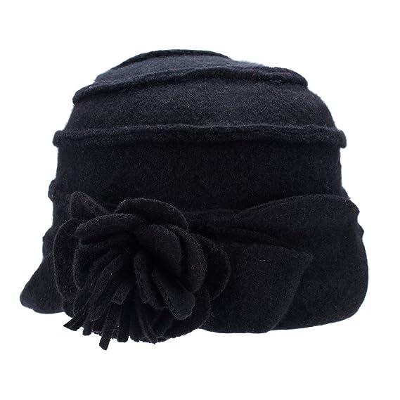Cappello Da Donna Retro Anni 20 In Stile Gatsby 100 Lana Alla Pescatora Invernale A376