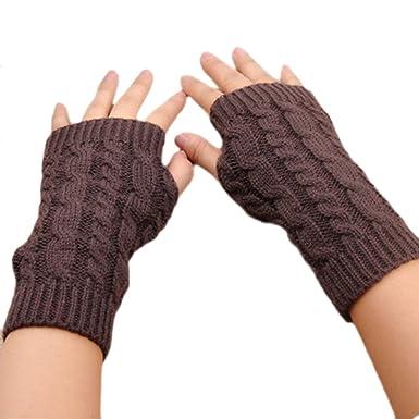 Efinny Damen S Armlinge Lange Häkeln Fingerless Handschuhe