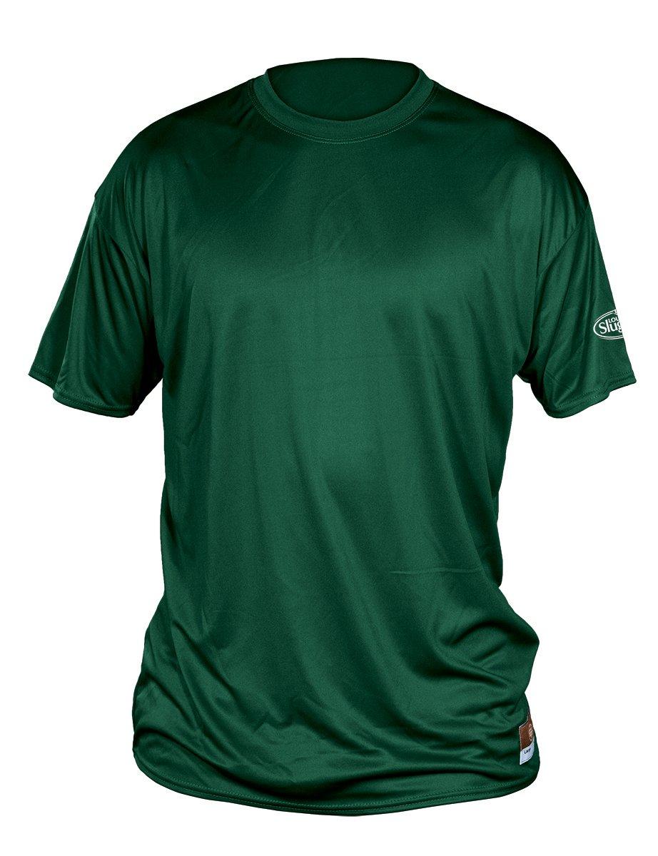 Louisville Slugger大人用Sluggerルーズフィット半袖シャツ B00L1AORRA 4L|ダークグリーン ダークグリーン 4L