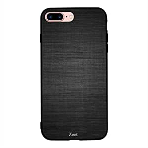 iPhone 7 Plus/ 8 Plus Case Cover Black Lines Texture, Zoot Printed Hard Back Cover TPU Trendy Modern Design Print with Quality Paint Color Pattern Long Lasting