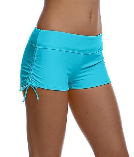 2361be28e52 HOLYSNOW Women s Swim Sport Board Bottoms Adjustable Tie Side Beach ...