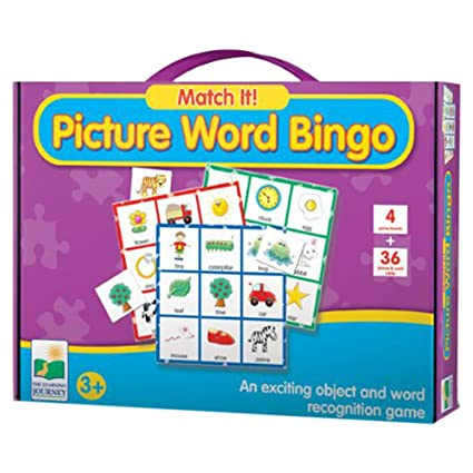 The Learning Journey Match It! Picture Word Bingo, Multi Color