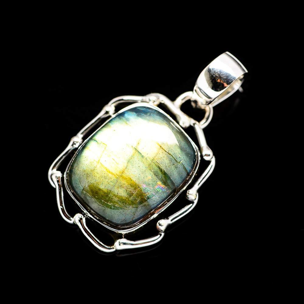 - Handmade Jewelry Bohemian Vintage PD677774 925 Sterling Silver Ana Silver Co Labradorite Pendant 1 3//8