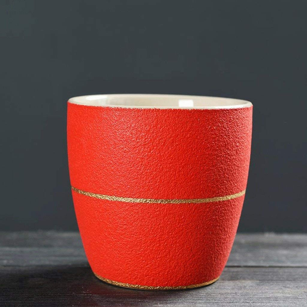 Exquisite Tea cups Saucers set Set Coffee Cup Tea pot, Tea cups 2 PCS Matte Models Mug Ceramics Drink Cup Handy Cup Water Cup Coffee Cup Milk Cup Breakfast Cup Cup Couples Cup Office Room Home Red UOM