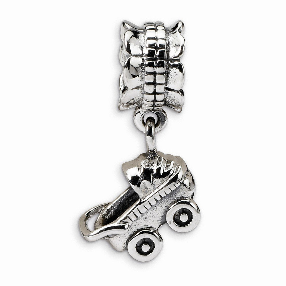 Goldia Sterling Silver Reflections Baby Buggy Dangle Bead