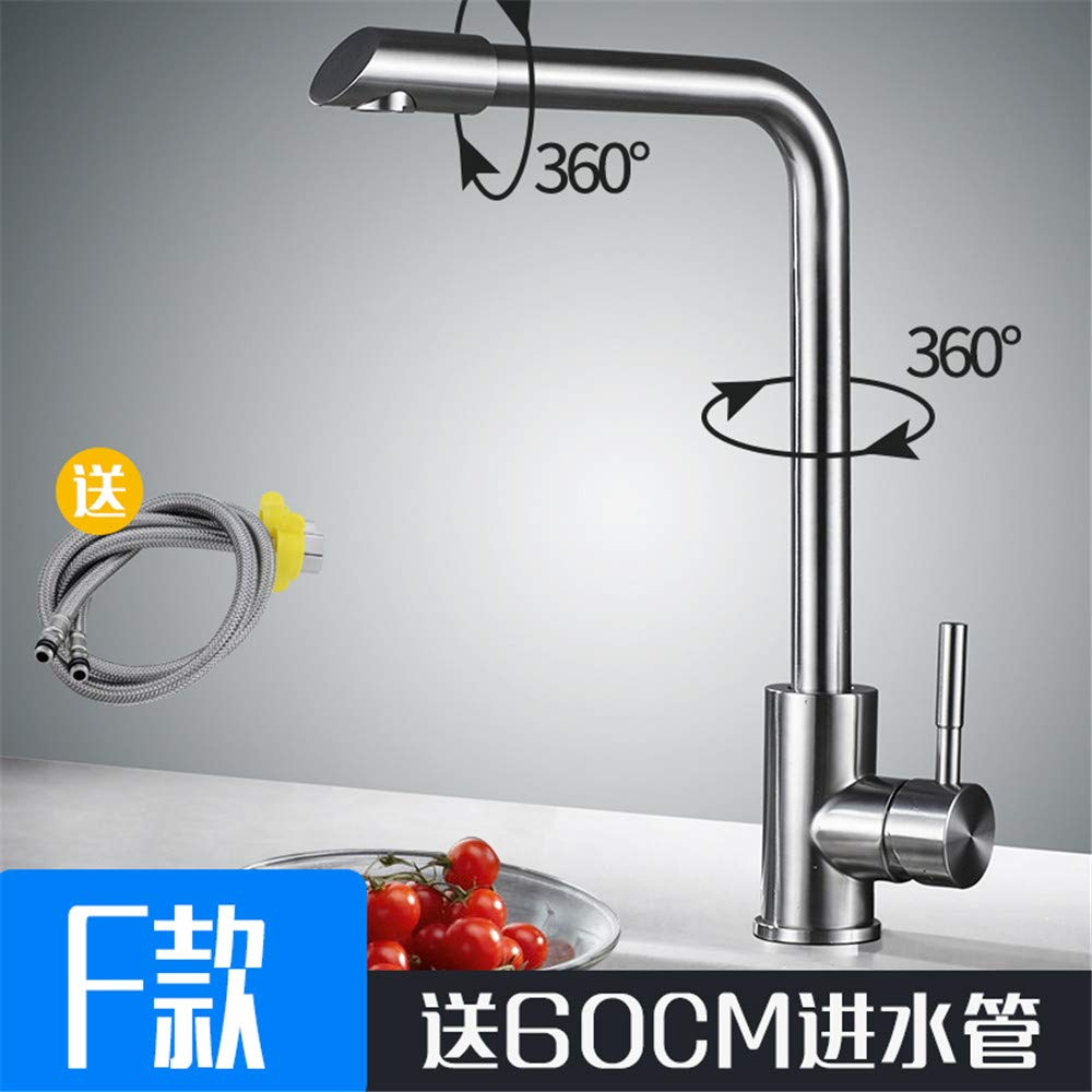 Stainless Steelf Guolaoer Faucet Stainless Steel Kitchen Faucet redating Universal Drawing Sink Sink Household Faucet   Stainless Steel Q