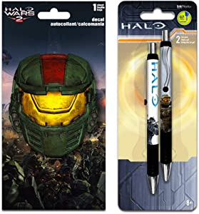 InkWorks Halo Pens Set with Decal Sticker (Halo Game Merchandise)