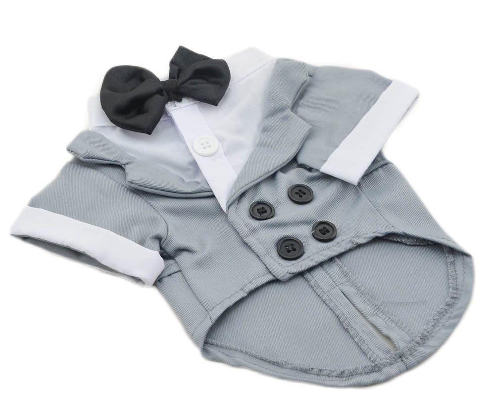 Amazon.com : Big Dog Small Grey Formal Dog Tuxedo Costume by Midlee ...