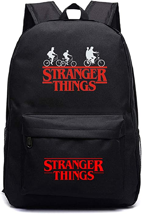 UK 17/'/' 3D Stranger Things 3 Backpack Girl School Bag Boy Laptop Travel Rucksack