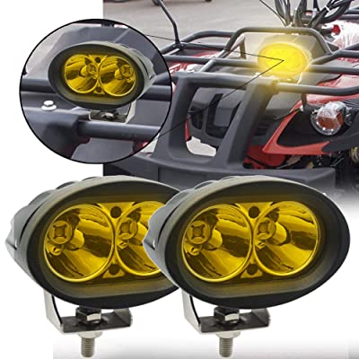 "Led Forklift Warning Lights Yellow, Ourbest Warehouse Safety Lights Spot Light Work Light Cree 20W LED 4"" Driving Off Road Lights Pods(2Pcs): Automotive"