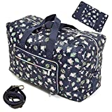 Travel Bag Foldable Large Travel Duffel Bag Checked Bag Luggage Tote 18 Style (flamingo)