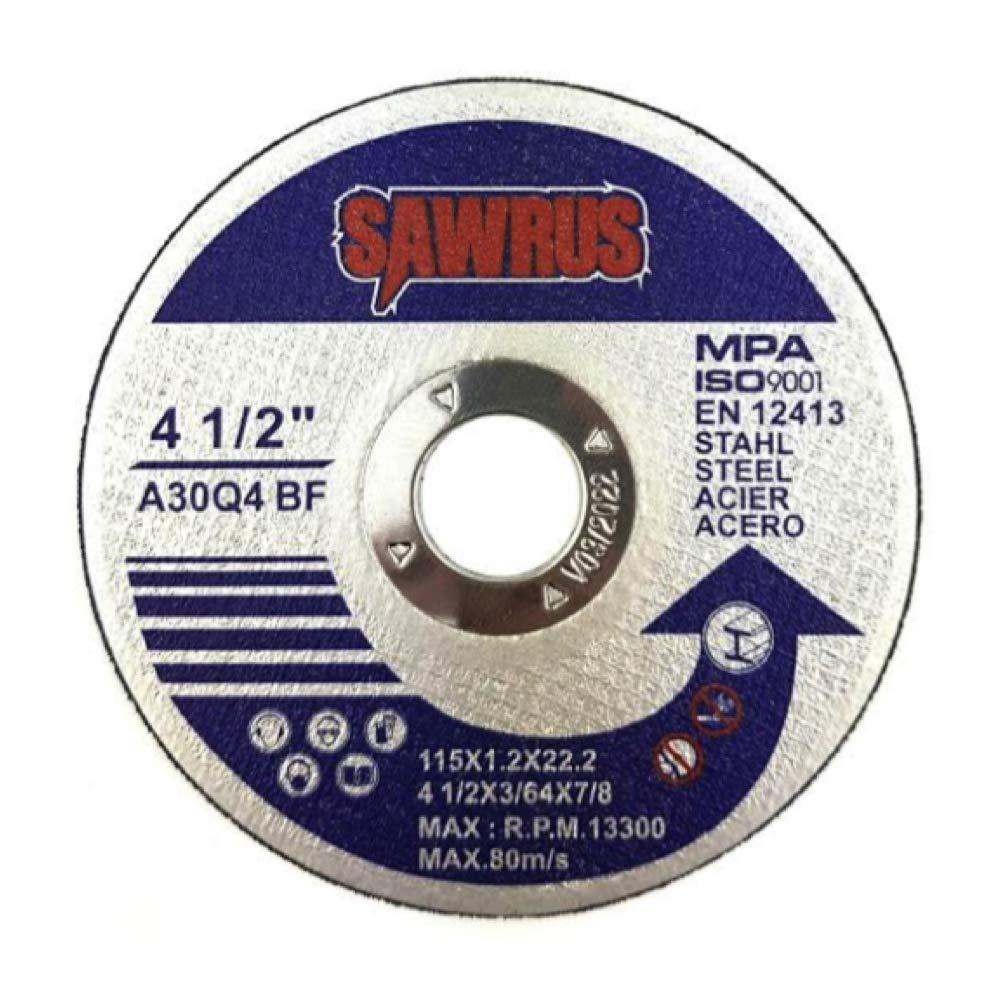 Sawrus Metal Cutting Discs 115 x 1mm Steel Inox Metal 50 Pack