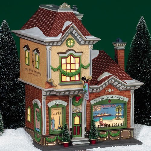 Paradise Travel Company Department 56 Christmas In The City Retired Enesco