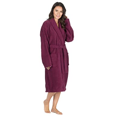 Forever Dreaming Womens Luxury French Towelling Bath Robe - Cotton ...