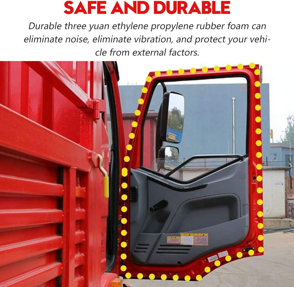 Boats PVC Plastic Trim with EPDM Rubber Seal and Home Applications RVs Easy to Install for Cars Trucks 10Ft CloudBuyer Car Door Seal Strip with Top Bulb