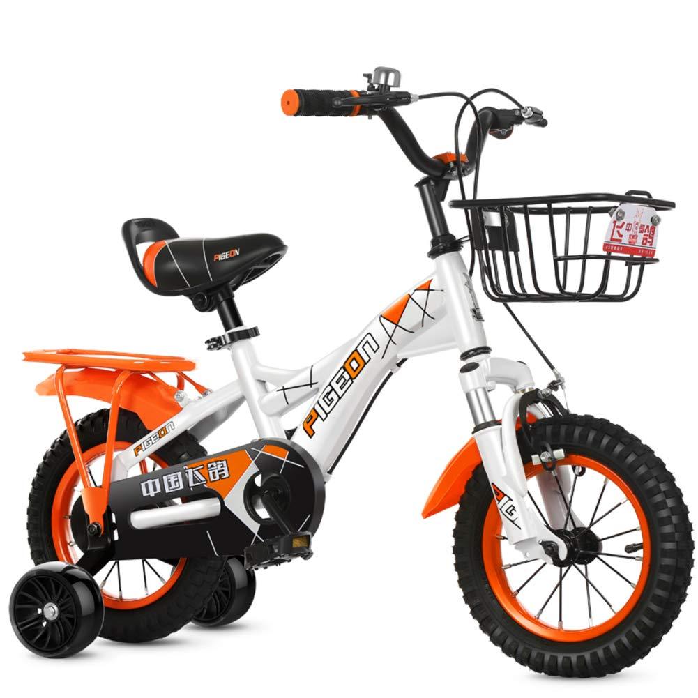 Bicicletas Niño Moto bebé Silla de Paseo niño-Naranja A 12inch