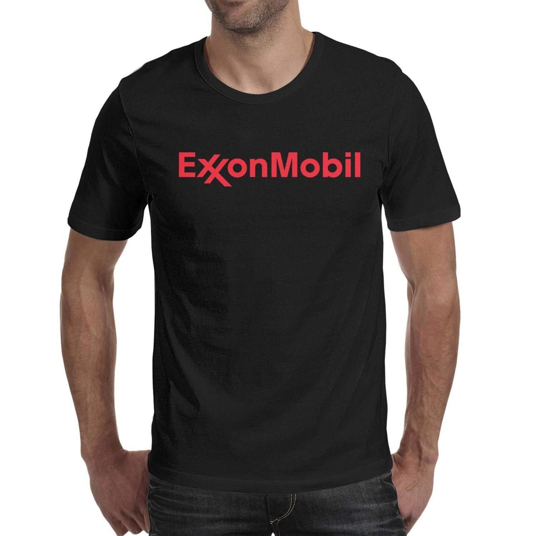 Fashion Mens ExxonMobil-Logo- Short Sleeve O-Neck Art t